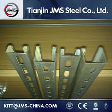 41*62 C and U Slotted Perforated Galvanized Shaped Steel Profile Strut Channel