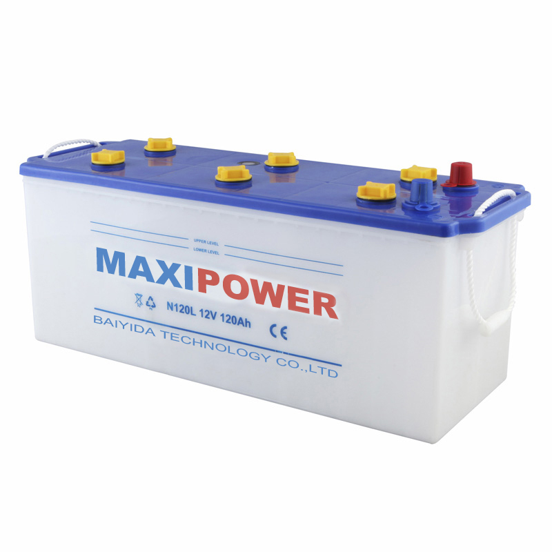 12V120AH Shenzhen dry charged auto car battery N120L with factory price