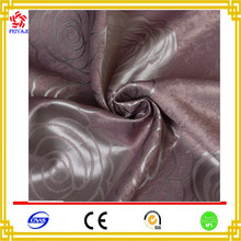 Hot Sale New Design Beautiful Purple Flower Jacquard Curtain Fabric