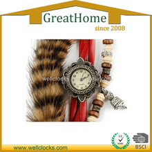 Newest design,artificial fur,vogue casual women's watch