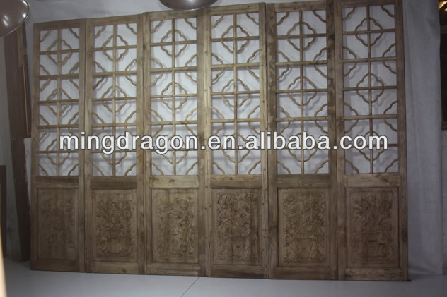 Chinese antique carving folding doors room dividers
