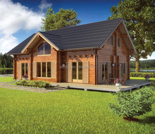 Large stock prefabricated wood house prefab wooden houses
