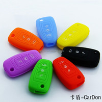 Silicone Cover Case 3 button Smart Remote Key for FORD Fiesta Focus