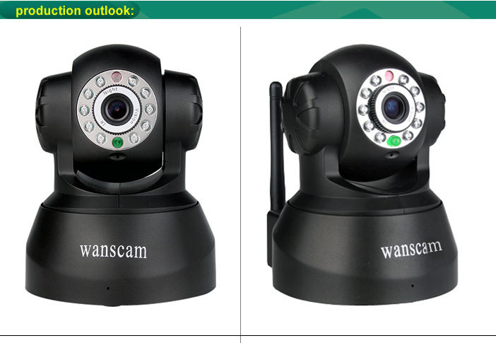 Wanscam Model JW0008 P2P Wifi IP Cam Wireless Dome PT Rotate Motion Detection Camera IP Mini Security Camera