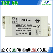 UL Listed LED Driver 12V 5000mA Constant Voltage Power Supply