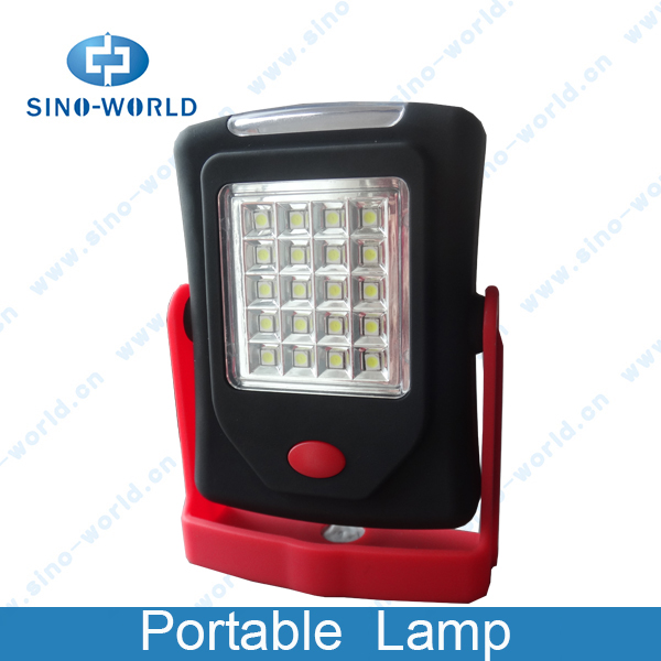 HOT selling 20 +3led magnet battery operated portable led lamp , led rechargeable hand lamp