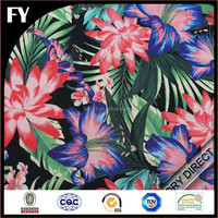Custom high quality digital printed fabric silk with colorful design