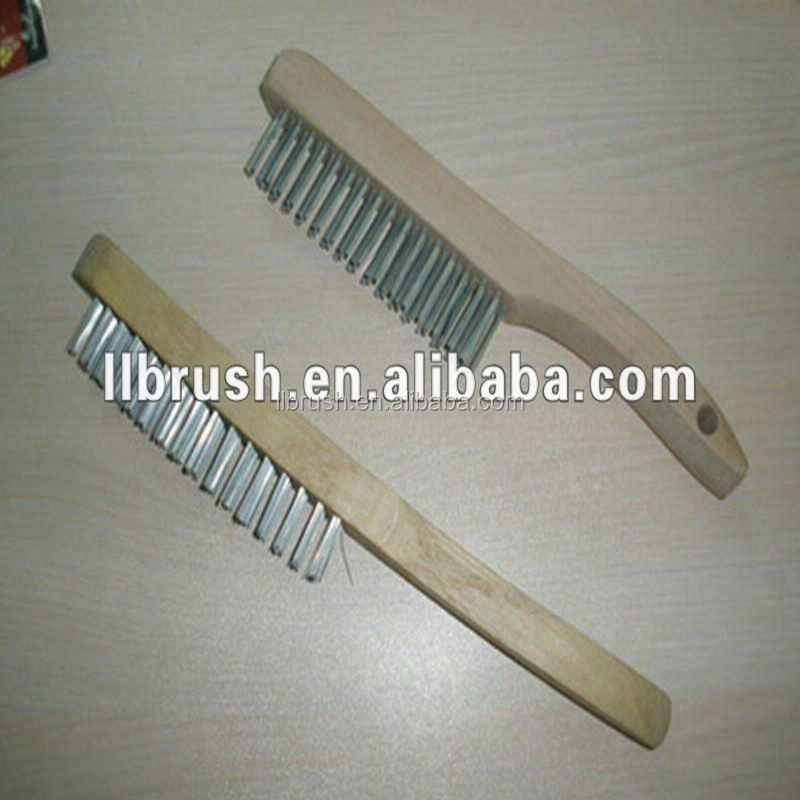 long wooden handle High quality stainless steel wire brushes