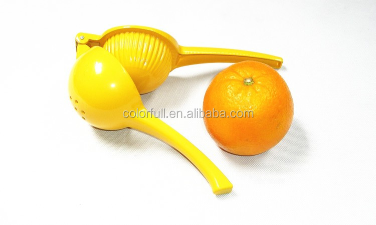 2016 hot selling product new design 2 in 1 aluminum manual lemon squeezer or orange juicer aluminium squeezer