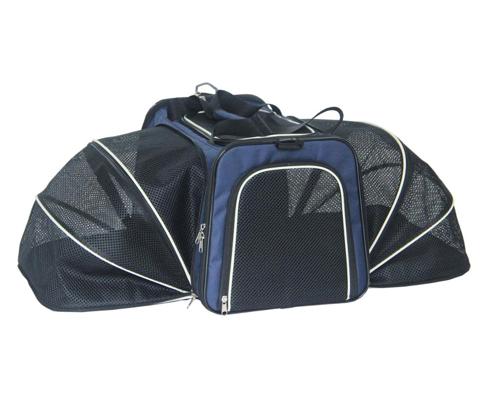Airline approved Pet Carrier Expandable Pet carrier Bag Foldable cage for cat dog