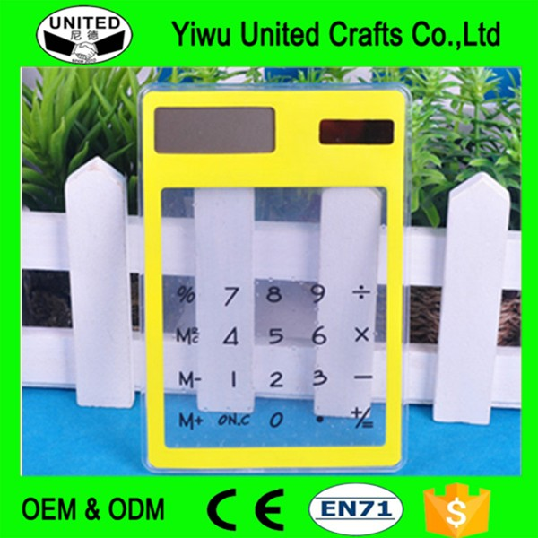 new arrival Transparent Calculator Solar Desktop Calculator