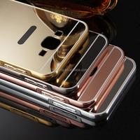 Mirror metal aluminum bumper back case cover for samsung for iphone