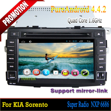 Quad core Android 4.4 For Kia Sorento 2010-2012/car multimedia/car audio system /android radio with gps bluetooth DVD