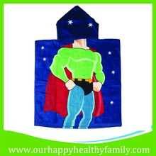Superman Printed Baby Kids Hooded Towel
