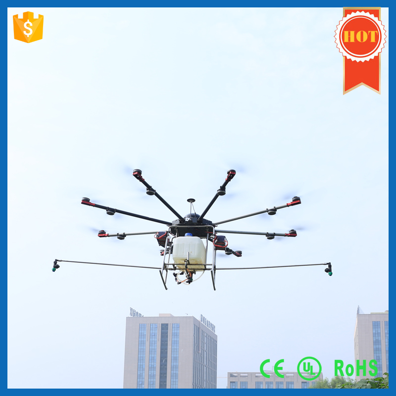 Big 6 axis agricultural plant protection UAV drone with 10L load capacity,agricultural drone sprayer,crop sprayer drone GPS