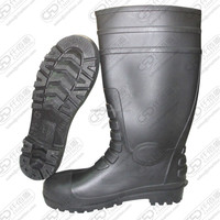over knee high heel safety industry boots with steel toe&steel sole