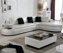 L shape new <strong>modern</strong> leather sofa design SL0002