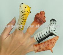 plastic Animal finger puppet,zoo animals design