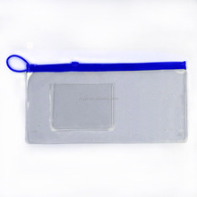 Hot sale new blue top zipper slider clear packing PVC Bag