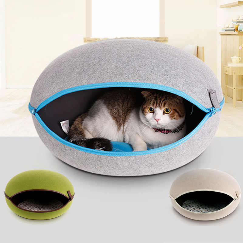 Real natural egg type <strong>dog</strong> and cat litter folding bed removable pet house