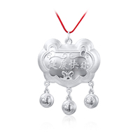 DaiHe Silver Long Life Lock Pendant Children Accessories