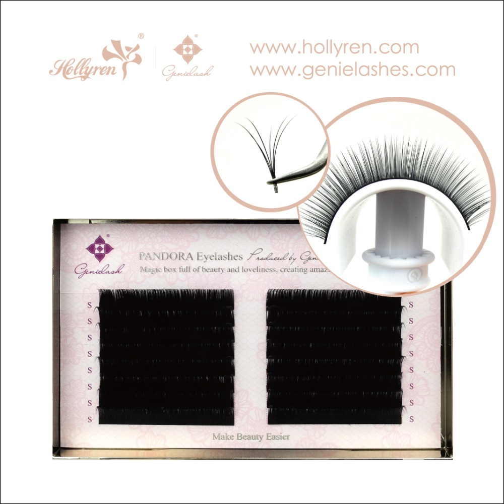 Hollyren Beauty Pandora 0.07 Silk Mink Eyelash Extension with Mixed Length in Per Row 7-9mm/8-12mm/9-13mm/10-14mm/11-15mm