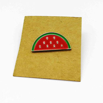 Lovely fruit watermelon soft enamel metal badge buttons