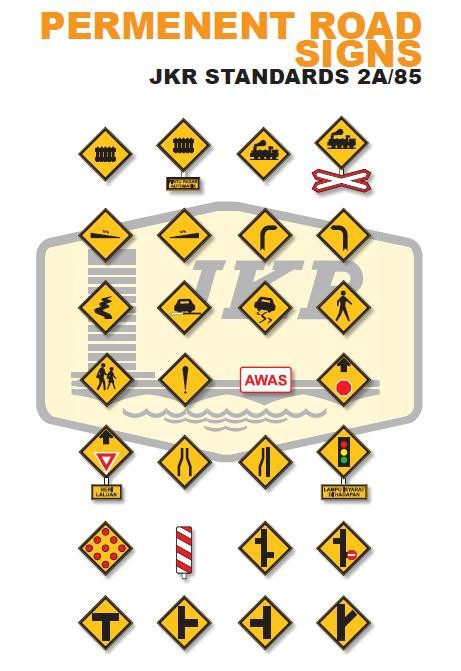 Permanent Road Signs - JKR Malaysia 2A/85