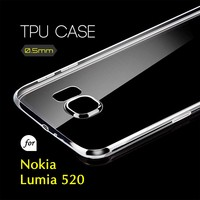 0.5mm Ultra Thin TPU Transparent Clear Protective Case for Nokia Lumia 520