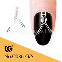 exquisite nail art zipper designs the most sold water decals