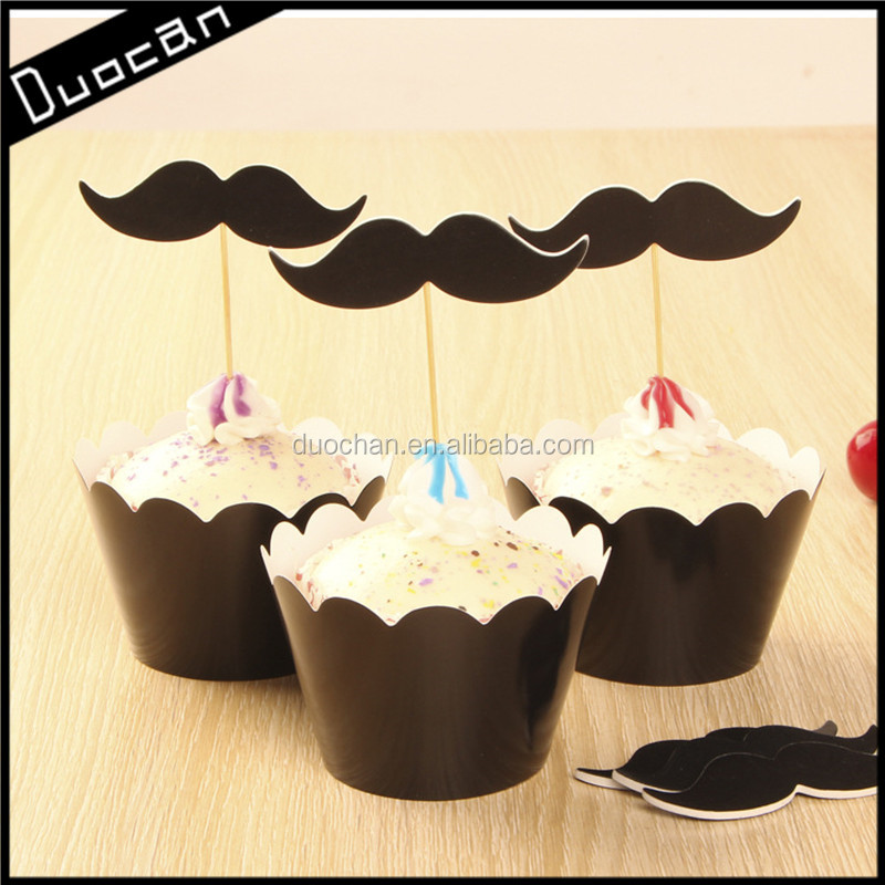 cheap party decorations cupcake wrappers and toppers in china