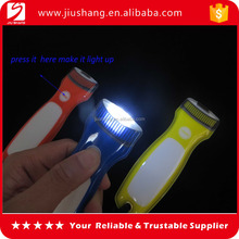New popular design cheap flashlight shape led key fob key rings wholesales