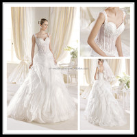 Appliqued Beaded Organza sexy wedding night dresses FXL-353