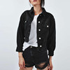 Anly Hot Sales Fashion Cool Black All-match Short Denim Crop Women Jacket