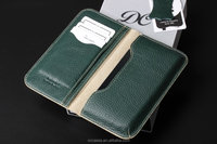 High quality Crafted genuine wallet leather phone case for apple iphone 6 4.7inch green