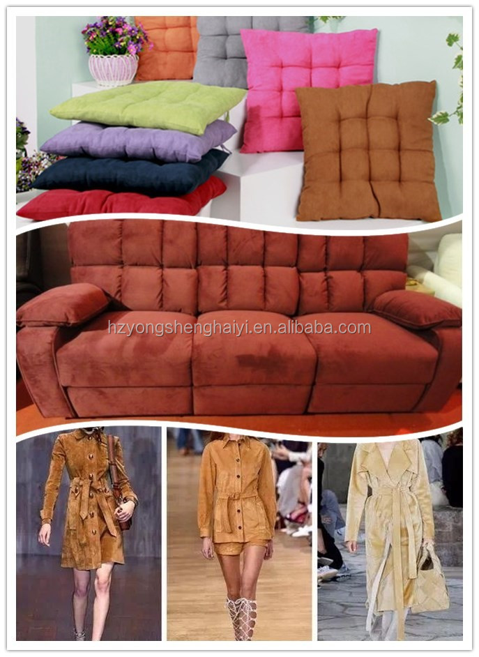 100% polyester warp woven suede textile fabric for garment