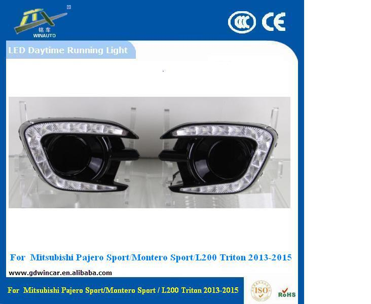 Water Proof Led Car <strong>Light</strong> DRL For 2015 Mitsubishi Pajero Montero Sport Daytime Running <strong>Light</strong>