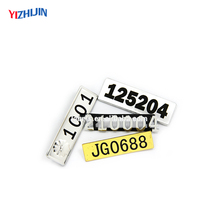 Factory directly sale high quality meta name badge with pin back