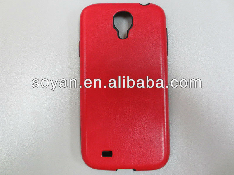 2013 Newest cases!!! IMD cover with PU leather printed Soft and Colorful TPU case for Samsung Galaxy S4 I9500