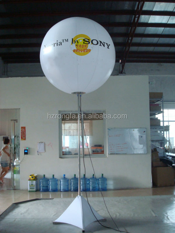 Remote control led light inflatable stand balloons