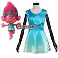Movie Trolls Girls Kids Child Costume Demon Princess Bobby Dress