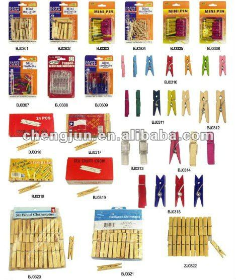 High quality wooden clothes pegs