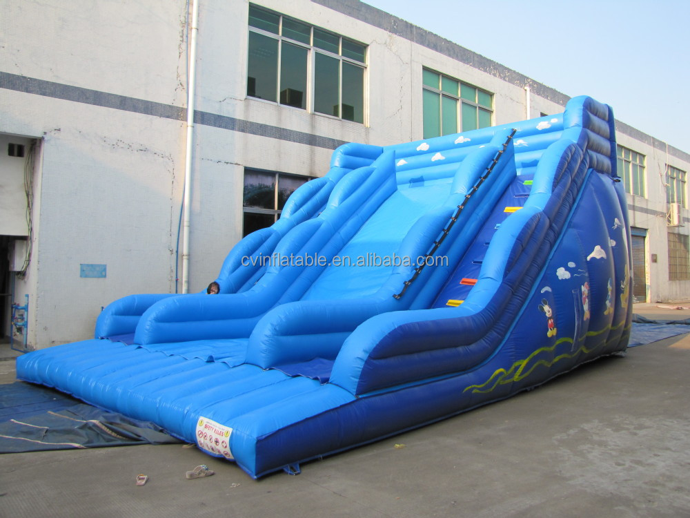 Blue inflatable children slides, cheap inflatable jumping slides, kids inflatable water slides for sales