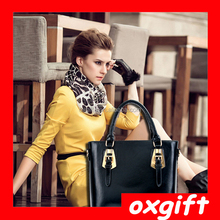 OX Ms. fashion classic and elegant atmosphere bright skin handbag