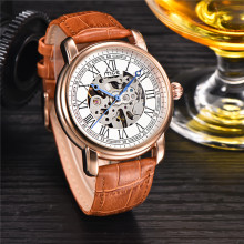 Custom Design Stainless Steel Back Automatic Mechanical Watch
