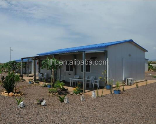 Low Price Prefab Sandwich Panel House For Angola Site Camp