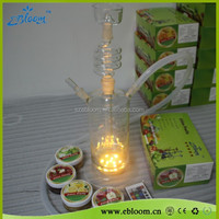 Glas Shisha Wasserpfeife LED/smoking chicha hookah wholesale from ebloom SHISHA factory