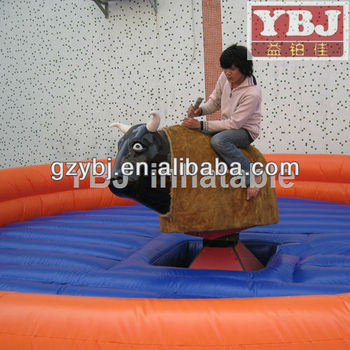 lower price inflatable outdoors mechanical bull rodeo bull