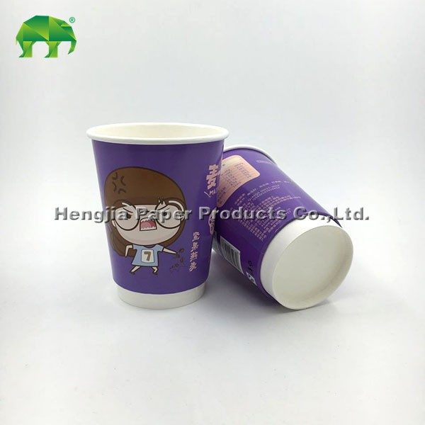 keep warm hot drink disposable double wall custom paper cup with lid