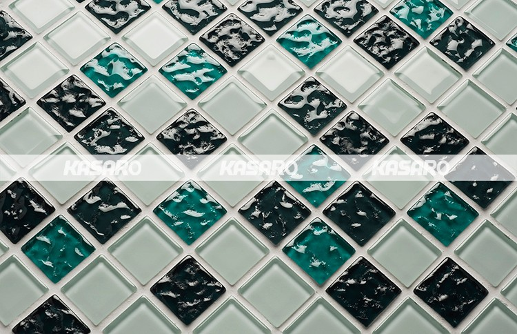 Green Glass Mosaic, Factory Glass Mosaic Tile For Wall